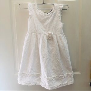 Chaps simple white floral pattern sun dress
